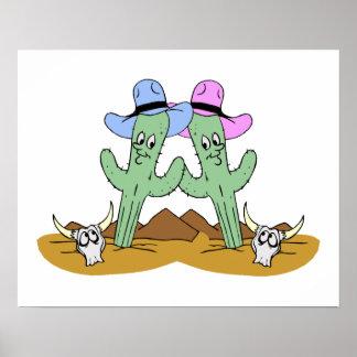 Amigos del cactus para siempre póster
