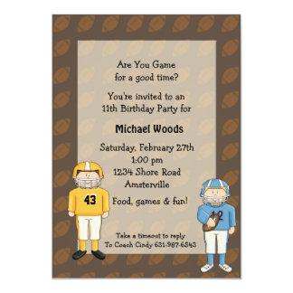 Amigos del fútbol - invitación del fiesta