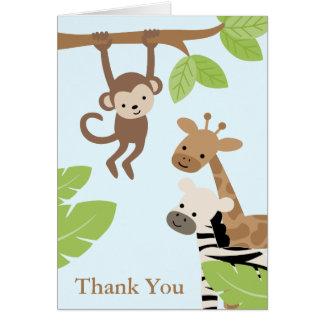 Amigos del safari tarjeta de felicitación
