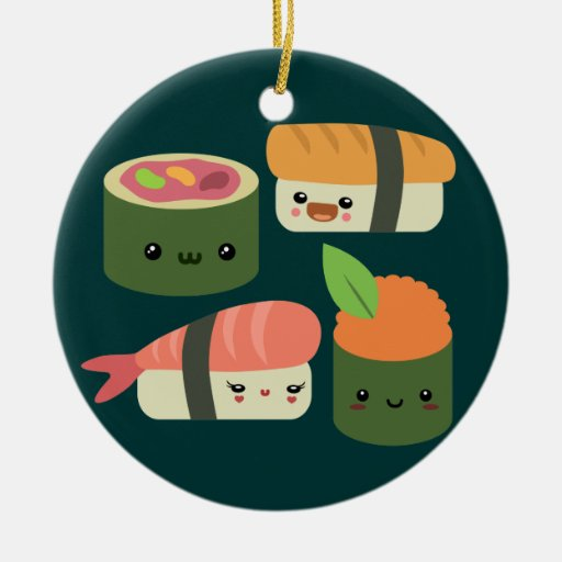 Amigos del sushi ornamentos para reyes magos
