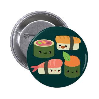 Amigos del sushi chapa redonda de 5 cm