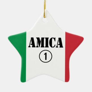 Amigos italianos: Uno de Amica Numero Adorno De Cerámica En Forma De Estrella