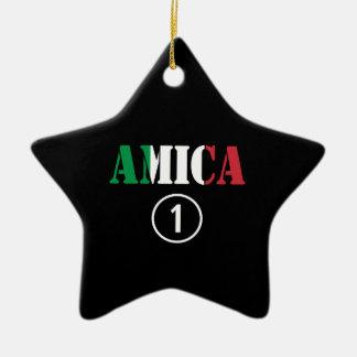 Amigos italianos: Uno de Amica Numero Ornamentos De Navidad