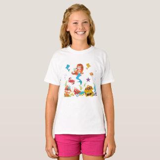 Amigos jovenes de la sirena y del mar camiseta