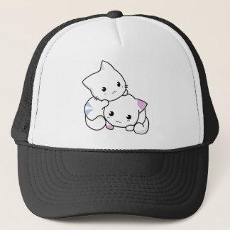 Amigos lindos del gato gorra de camionero