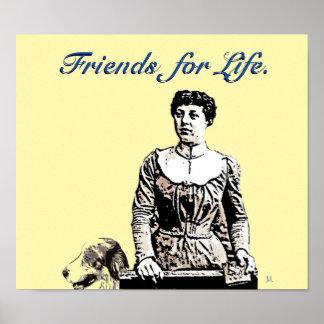 Amigos para el arte pop del poster de la vida
