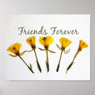 Amigos para siempre impresiones