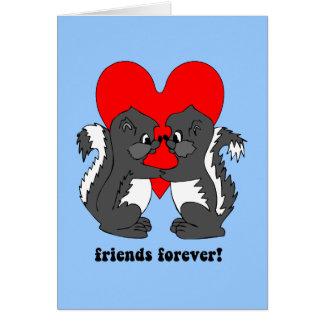 amigos para siempre tarjeta