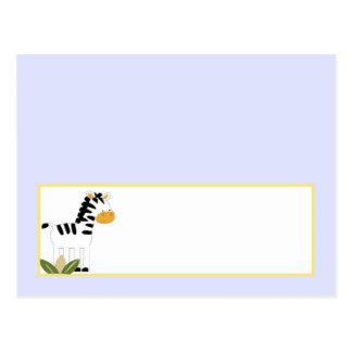 Amigos programables del safari de la tarjeta del l postal