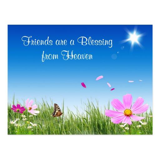 Amigos que bendicen la postal del jard n de flores zazzle for Amigos del jardin
