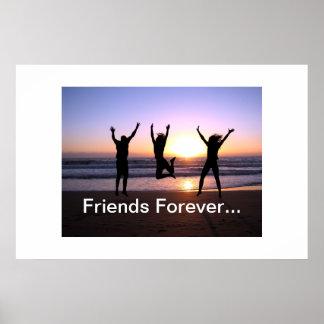 Amigos verdaderos Forev del día de la amistad del  Posters
