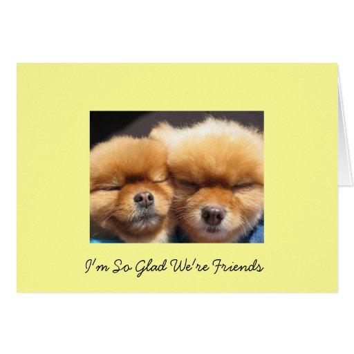 Amigos y amistad tarjetón
