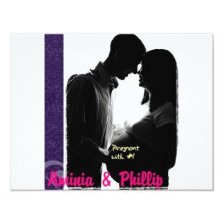 Aminia y Phillip embarazadas Invitación 10,8 X 13,9 Cm