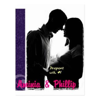 Aminia y Phillip embarazadas Postal