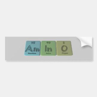Amino-Ser-En-o-americio-indio-Oxígeno Pegatina Para Coche