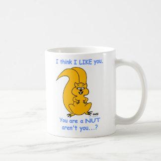 Amistad amistosa feliz linda de la ardilla del taza de café