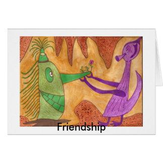 Amistad - autismo tarjeta de felicitación