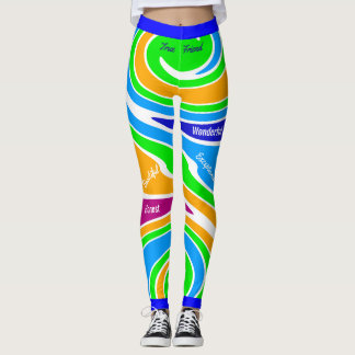 Amistad de apoyo multicolora abstracta leggings