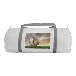 Amistad del perro y del gato - 3D rinden Bolsa De Deporte