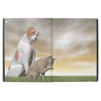 """Amistad del perro y del gato - 3D rinden Funda Para iPad Pro 12.9"""""""