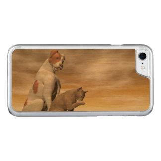 Amistad del perro y del gato - 3D rinden Funda Para iPhone 7 De Carved