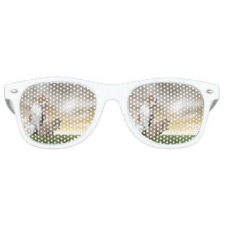 Amistad del perro y del gato - 3D rinden Gafas De Fiesta Retro