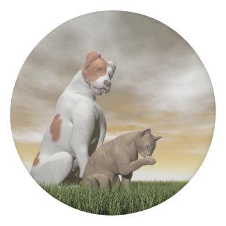 Amistad del perro y del gato - 3D rinden Goma De Borrar