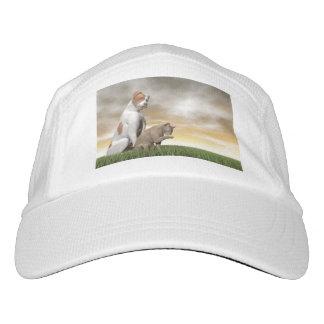Amistad del perro y del gato - 3D rinden Gorra De Alto Rendimiento