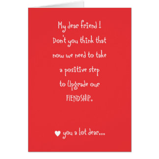 Amistad para amar la tarjeta