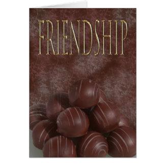 Amistad para el chocoholic tarjeta de felicitación