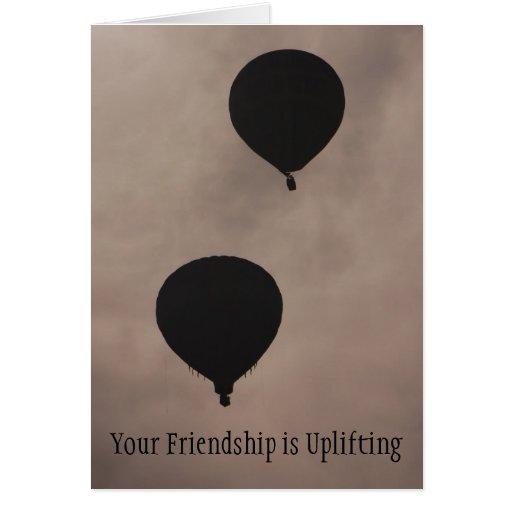 Amistad - su amistad está elevando felicitaciones