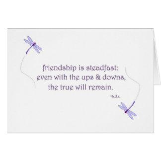 amistad tarjeta pequeña
