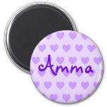 Amma en púrpura imanes de nevera