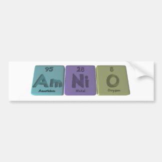 Amnio-Ser-Ni-o-americio-níquel-Oxígeno Pegatina Para Coche