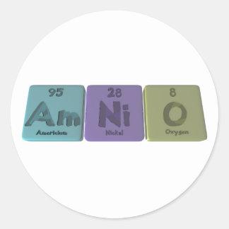 Amnio-Ser-Ni-o-americio-níquel-Oxígeno Pegatina Redonda