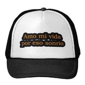 Amo 12,01 de Frases Gorros Bordados