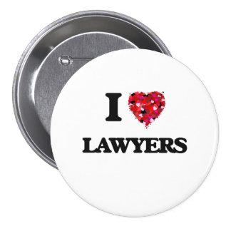 Amo a abogados chapa redonda 7 cm