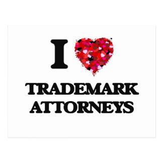 Amo a abogados de la marca registrada postal