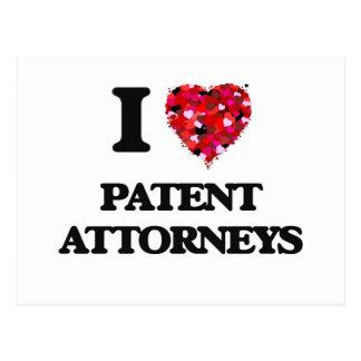 Amo a abogados de patentes postal