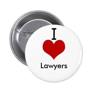 Amo a abogados (del corazón) pins