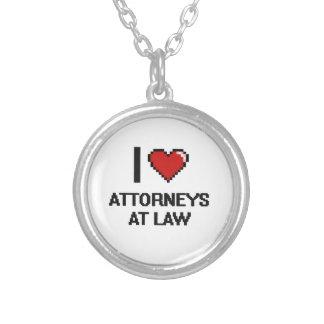 Amo a abogados en la ley colgante redondo