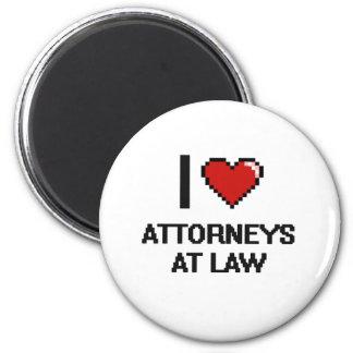 Amo a abogados en la ley imán redondo 5 cm