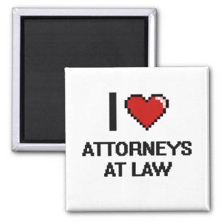 Amo a abogados en la ley imán cuadrado