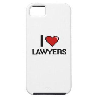 Amo a abogados funda para iPhone 5 tough