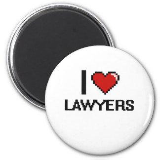 Amo a abogados imán redondo 5 cm