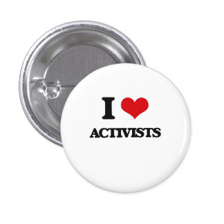 Amo a activistas pins