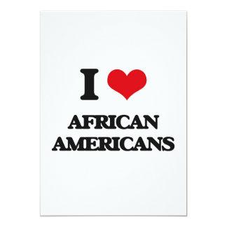Amo a afroamericanos invitación 12,7 x 17,8 cm