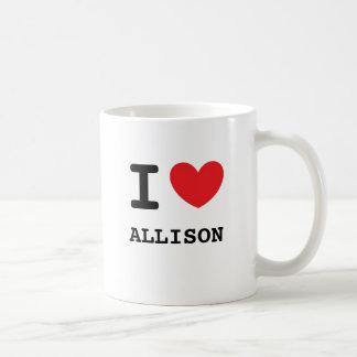 Amo a Allison Taza De Café