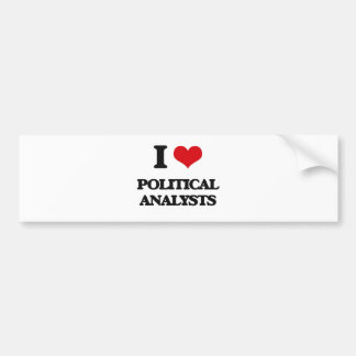Amo a analistas políticos etiqueta de parachoque