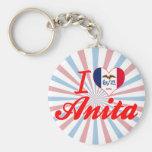 Amo a Anita, Iowa Llaveros Personalizados